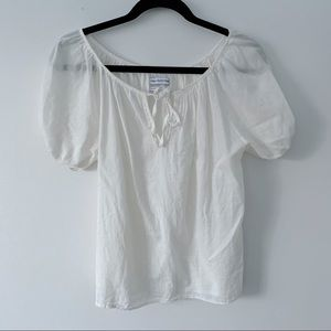 Urban Outfitters Cream/White Loose Blouse XS